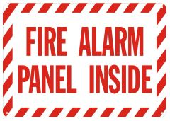 FIRE ALARM PANEL INSIDE SIGN- REFLECTIVE !!! (ALUMINUM SIGNS 4X12)
