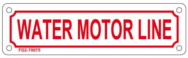 WATER MOTOR LINE SIGN (ALUMINUM SIGN SIZED 2X7)