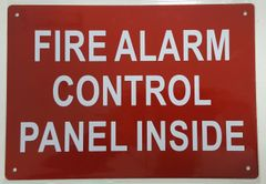 FIRE ALARM CONTROL PANEL INSIDE SIGN- REFLECTIVE !!! (ALUMINUM SIGNS 10X12)