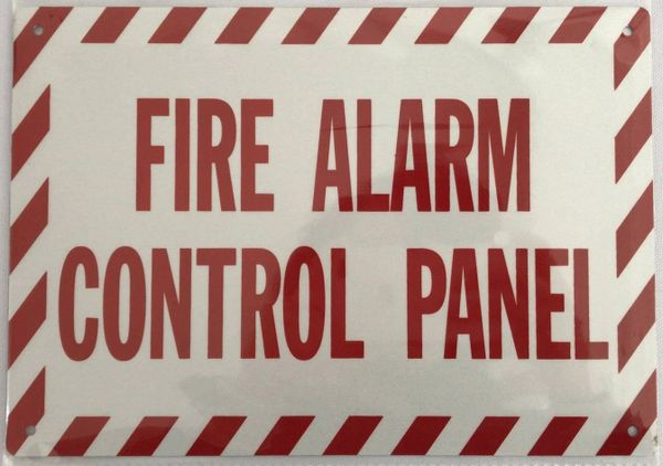 FIRE ALARM CONTROL PANEL SIGN (ALUMINUM SIGNS 7X10)