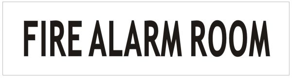 FIRE ALARM ROOM SIGN - WHITE ALUMINUM (ALUMINUM SIGNS 2X7.75)
