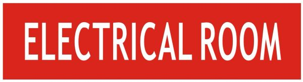 ELECTRICAL ROOM SIGN - RED BACKGROUND (ALUMINUM SIGNS 2X7.75)