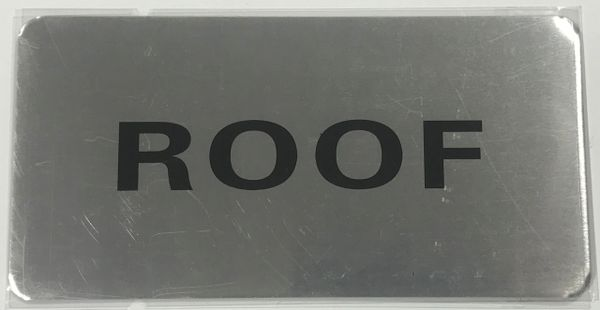 FLOOR NUMBER SIGN - ROOF SIGN - BRUSHED ALUMINUM (ALUMINUM SIGNS 4X8)- The Mont Argent Line
