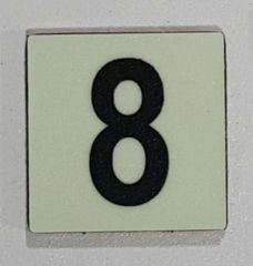 Glow in dark Number 8 sign The Liberty Line (Aluminum SIGNS 1x1, 3 RCNY §505-01)