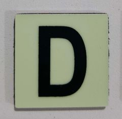 Glow in dark Number D sign The Liberty Line (Aluminum SIGNS 1x1, 3 RCNY §505-01)
