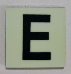 Glow in dark Number E sign The Liberty Line (Aluminum SIGNS 1x1, 3 RCNY §505-01)