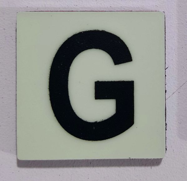 Glow in dark Number G sign The Liberty Line (Aluminum SIGNS 1x1, 3 RCNY §505-01)