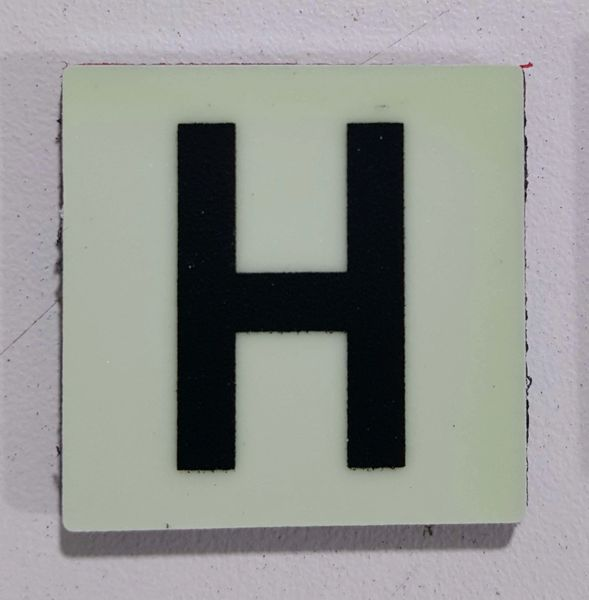 Glow in dark Number H sign The Liberty Line (Aluminum SIGNS 1x1, 3 RCNY §505-01)