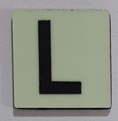 Glow in dark Number L sign The Liberty Line (Aluminum SIGNS 1x1, 3 RCNY §505-01)
