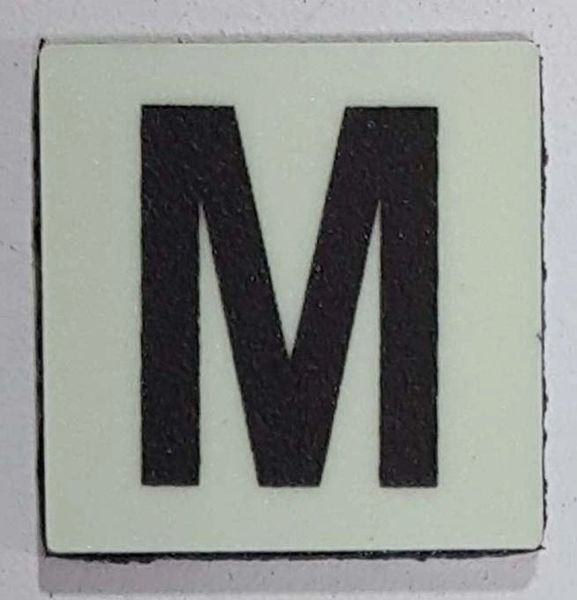Glow in dark Number M sign The Liberty Line (Aluminum SIGNS 1x1, 3 RCNY §505-01)