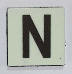 Glow in dark Number N sign The Liberty Line (Aluminum SIGNS 1x1, 3 RCNY §505-01)