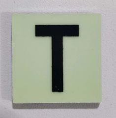 Glow in dark Number T sign The Liberty Line (Aluminum SIGNS 1x1, 3 RCNY §505-01)