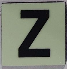 Glow in dark Number Z sign The Liberty Line (Aluminum SIGNS 1x1, 3 RCNY §505-01)
