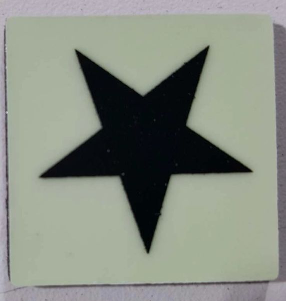 Glow in dark Star sign The Liberty Line (Aluminum SIGNS 1x1, 3 RCNY §505-01)