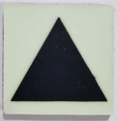 Glow in dark Triangle Marking Symbol sign The Liberty Line (Aluminum SIGNS 1x1, 3 RCNY §505-01)