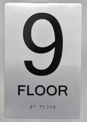 9th FLOOR ADA SIGN - The sensation line