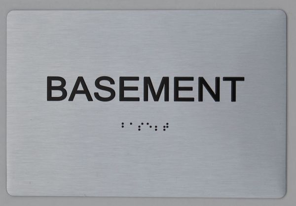 BASEMENT ADA SIGN - The sensation line