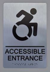 Accessible Entrance Directional Sign ADA Sign - The sensation line