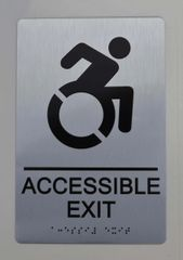 ACCESSIBLE EXIT Sign ADA SIGN - The sensation line