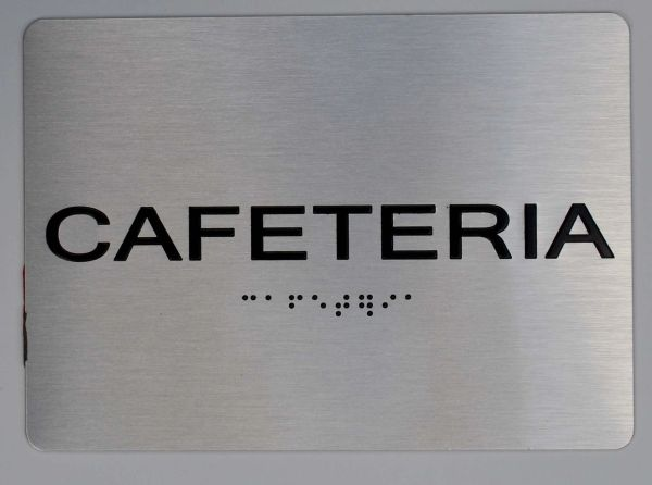 CAFETERIA Sign ADA Sign - The sensation line