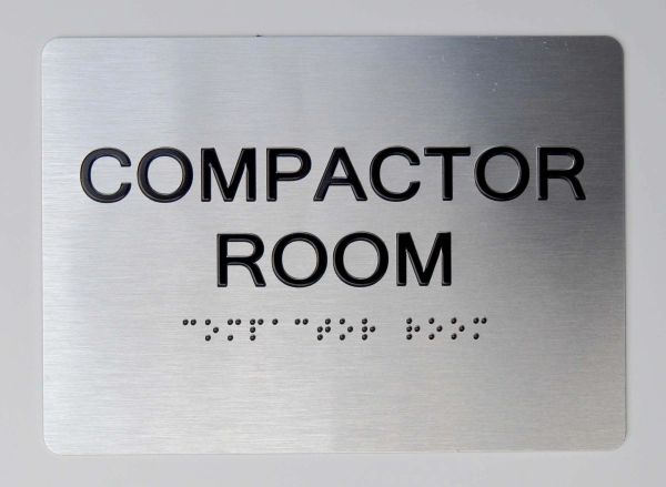 COMPACTOR ROOM ADA Sign - The sensation line