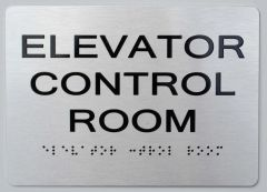 ELEVATOR CONTROL ROOM ADA Sign - The sensation line