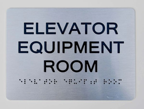 Elevator Equipment Room ADA Sign - The sensation line