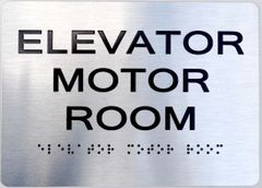 ELEVATOR MOTOR ROOM ADA Sign - The sensation line