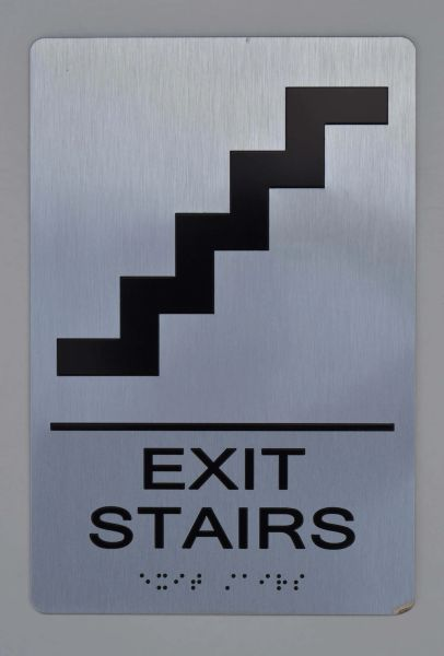 EXIT STAIRS ADA SIGN- The sensation line