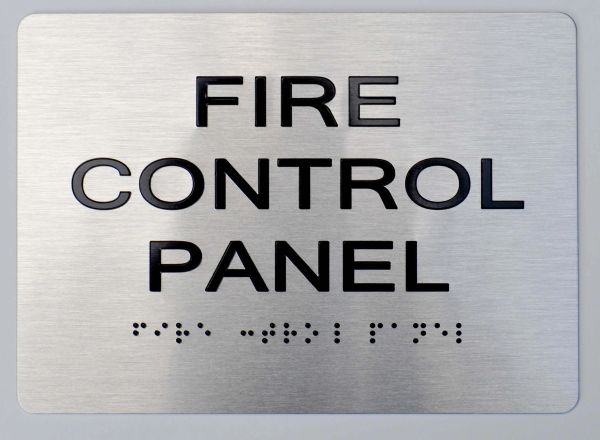 FIRE CONTROL PANEL Sign ADA Sign - The sensation line
