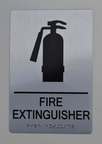 FIRE EXTINGUISHER ADA SIGN - The sensation line