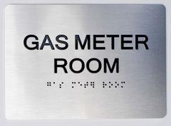 GAS METER ROOM ADA Sign - The sensation line