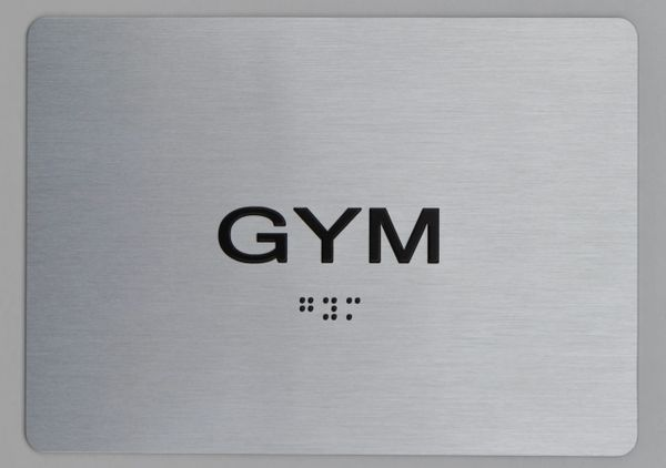 GYM ADA Sign - The sensation line