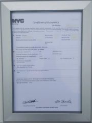 FIRE DEPARTMENT FRAME - CERTIFICATE OF OCCUPANCY FRAME (HEAVY DUTY) 8.5 X 11