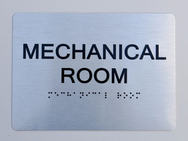 Mechanical Room ADA Sign - The sensation line