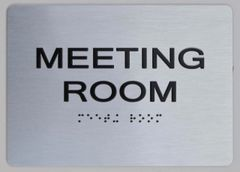 MEETING ROOM Sign ADA Sign - The sensation line