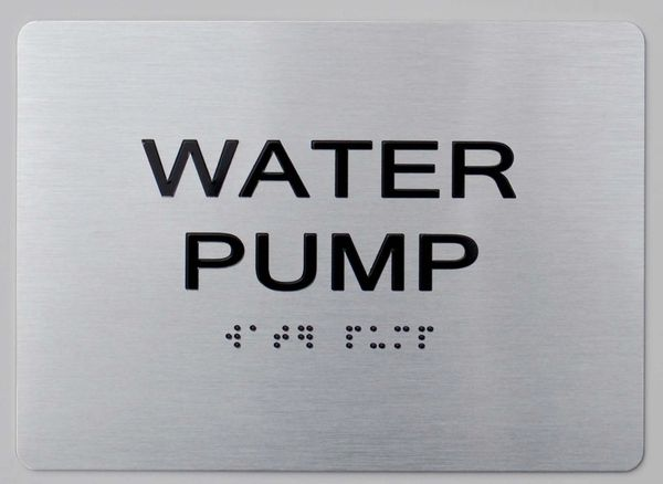 WATER PUMP ADA Sign - The sensation line