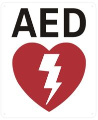 AED SIGN (ALUMINUM SIGNS 12X10)
