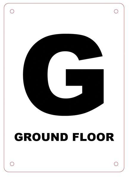 GROUND FLOOR SIGN - ALUMINIUM