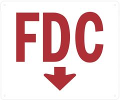 FDC DOWN SIGN (ALUMINUM SIGNS 10 X 12)