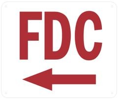 FDC LEFT SIGN (ALUMINUM SIGNS 10 X 12)