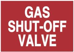 GAS SHUT-OFF VALVE SIGN (ALUMINUM SIGNS 3.5X5)