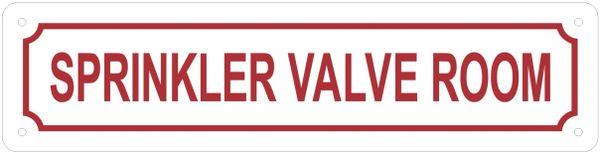 SPRINKLER VALVE ROOM SIGN (ALUMINUM SIGNS 3X12)
