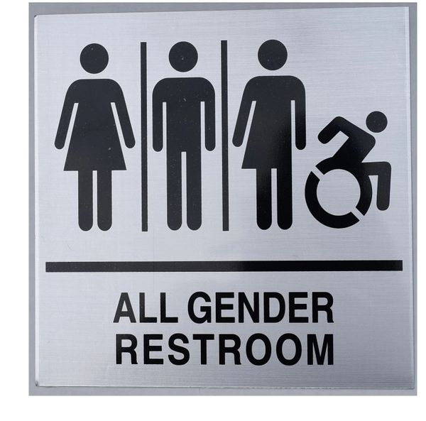 ALL GENDER RESTROOM SIGN (ALUMINUM SIGNS 9X9)