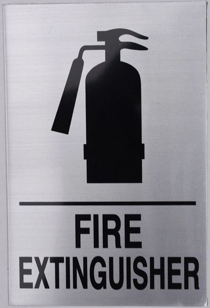 FIRE EXTINGUISHER SIGN (ALUMINUM SIGNS 9X6)