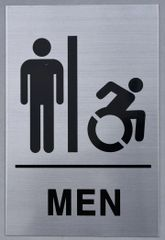 MEN ACCESSIBLE RESTROOM SIGN (ALUMINUM SIGNS 9X6)