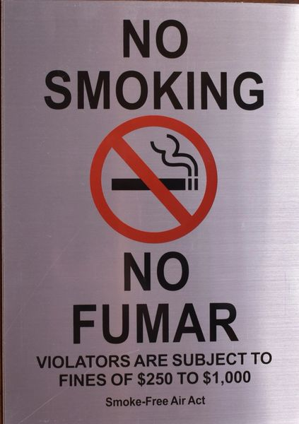 NO SMOKING NO FUMAR SIGN (ALUMINUM SIGNS 12x8.5)
