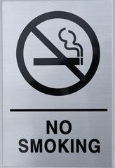 NO SMOKING SIGN (ALUMINUM SIGNS 9X6)