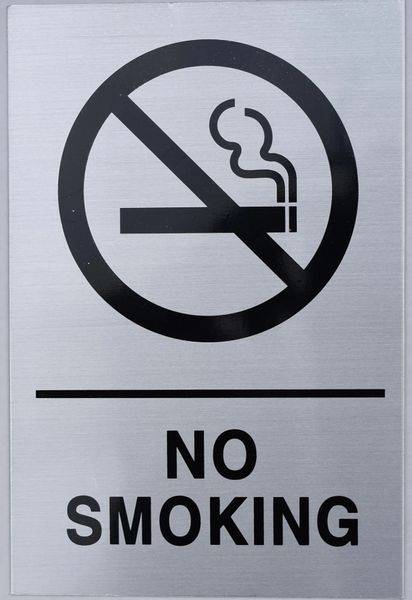 NO SMOKING SIGN (ALUMINUM SIGNS 9X6)