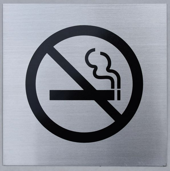 NO SMOKING SYMBOL SIGN (ALUMINUM SIGNS 6X6)